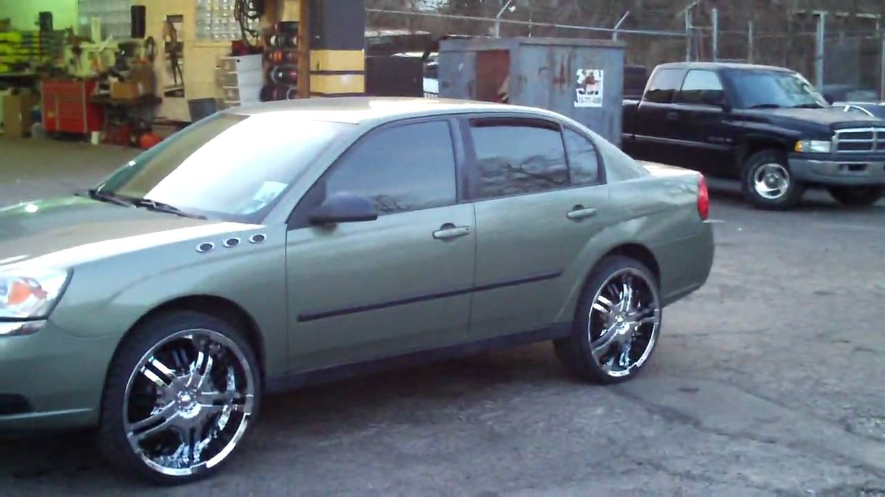 Chevy Malibu on 22s 05  YouTube