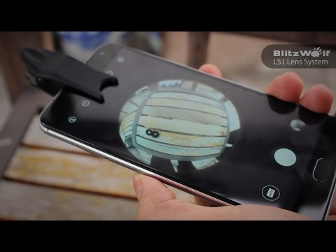 BlitzWolf LS1 3in1 Smartphone Clip On Wide, Macro And Fisheye Lenses.