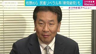 民進党の枝野代表代行は希望の党との合流を巡り、前原代表から納得のい...