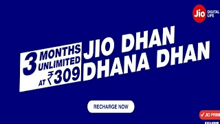 Jio Special Offer Launched For New Customers - Unlimited data for complete 1 year