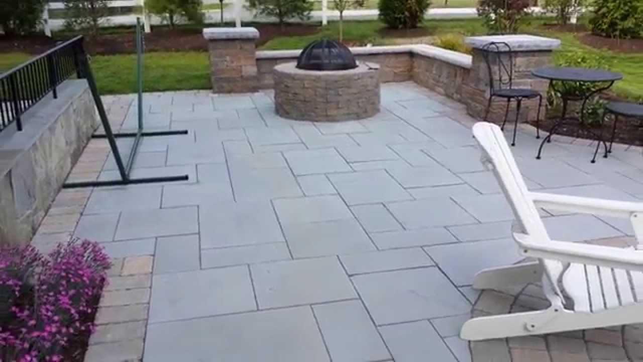 Techo Bloc Stone Patio In Potomac Md By Corad Outdoor