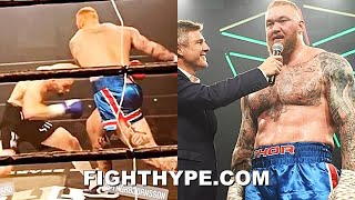 "HIGHLIGHTS | HAFTHOR BJORNSSON FIRST FIGHT VS. STEVEN WARD; 130-POUND ""TITAN WEIGHT"" ADVANTAGE"