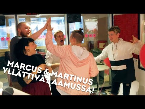 MARCUS& MARTINUS NRJ:n Aamussa