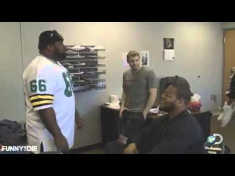 NFL rivals Ndamukong Suh and T J  Lang square off on American Muscle
