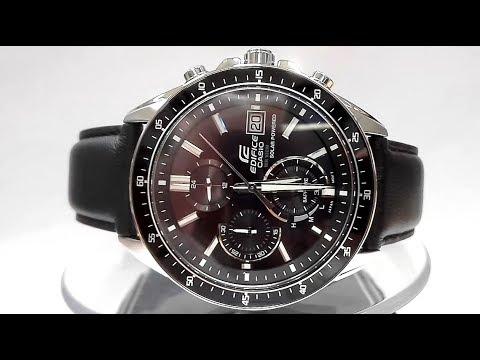 efb63190a9de Casio Edifice EFS-S510L-1AV Saphire Solar powered watch video 2018 ...