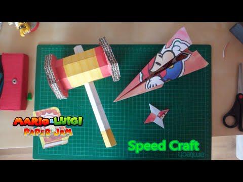 Trio Attack Hammer Papercraft Plane Shuriken Mario Origami