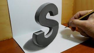 Trick Art on Paper, 3D Letter