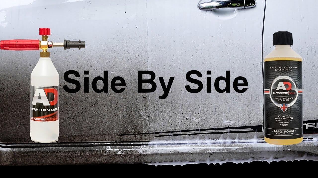 snow foam test autobrite magifoam youtube