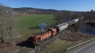 Chasing the Battenkill Railroad 4/23/18 With Drone Footage