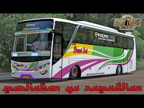 Bus Dewi Sri Volvo B7R Special Dugem Malam Ramadhan - ETS2 Mod Indonesia - 동영상