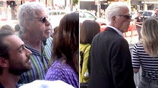 Ron Perlman And Ted Danson Support Guillermo Del Toro At His Hollywood Star Cereomy