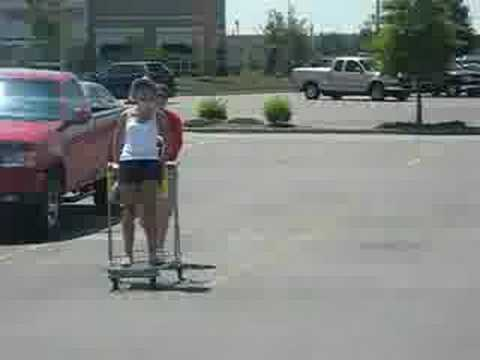 Girl on Shopping Cart