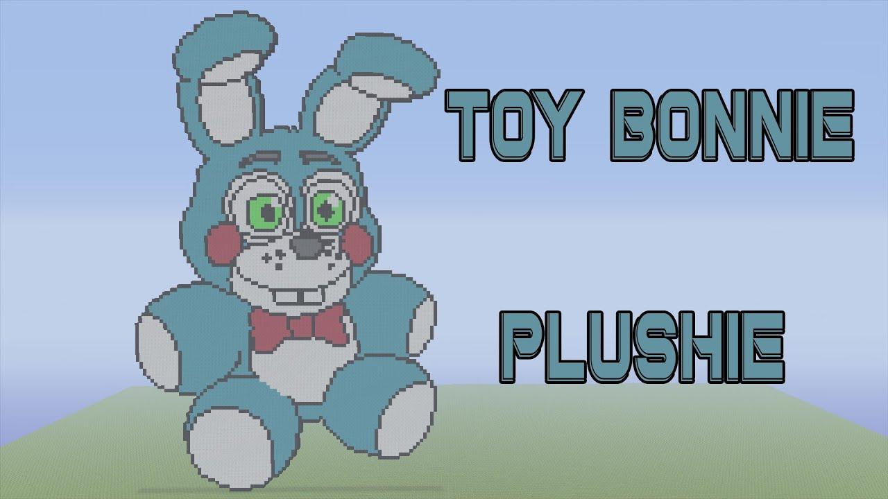 Minecraft Pixel Art Timelapse Toy Bonnie Plushie
