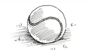 How to draw a Tennis Ball Real Easy
