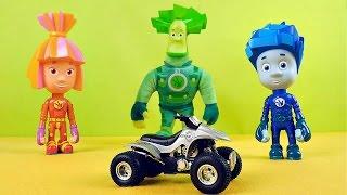 Фиксики собирают квадроцикл - Развивающее видео для детей c игрушками. Fixiki Toys(Фиксики Симка и Нолик в этом видео для детей будут делать интересную сборку квадроцикла вместе с Папусом...., 2015-09-14T17:31:25.000Z)