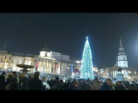 Trafalgar Square Christmas Tree Lighting Ceremony London