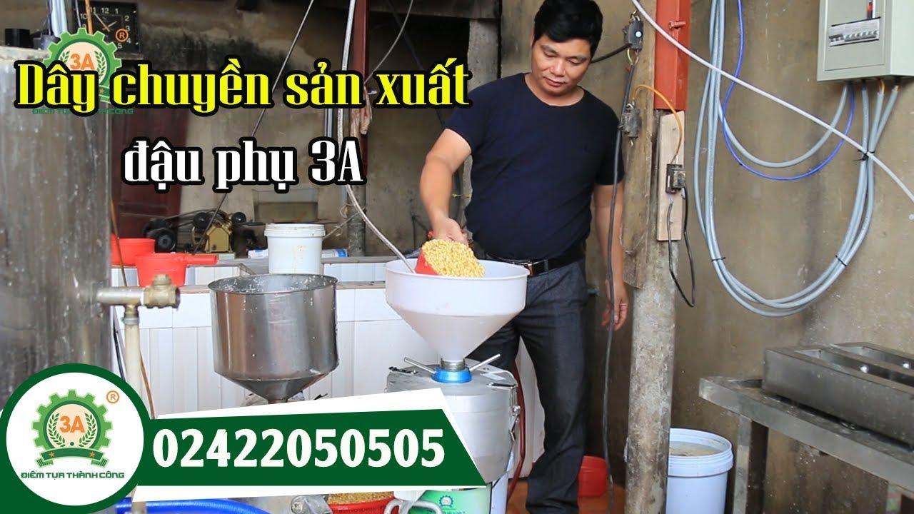 Dây chuyền sản xuất đậu phụ – Bộ 3 máy làm đậu phụ liên hoàn – LH: 02422050505