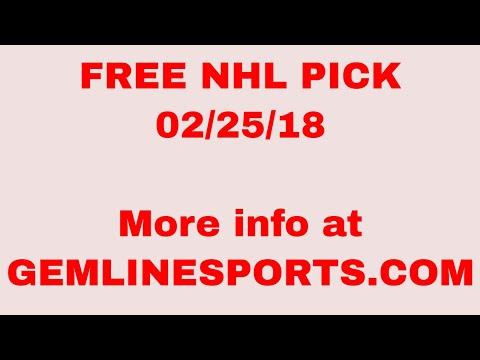 FREE NHL pick 02/25/18