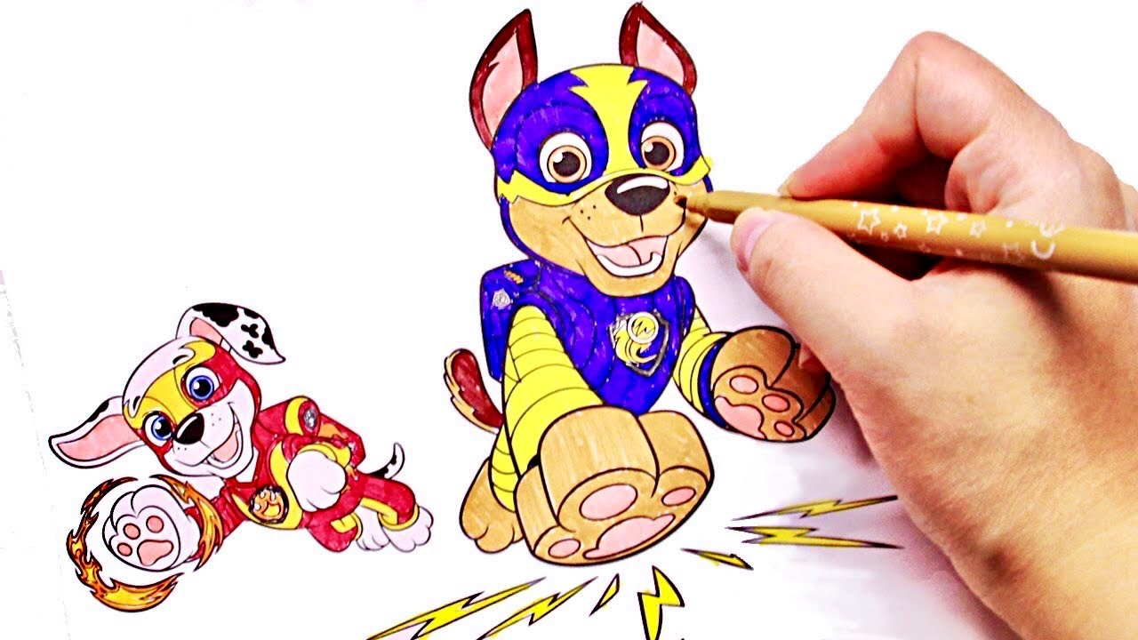 Раскраска Щенячий Патруль Супер Щенки Paw Patrol Mighty ...