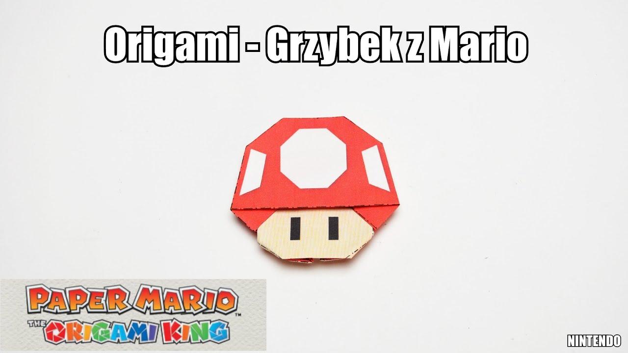 Origami - Grzybek z Mario
