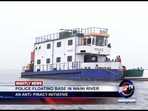 POLICE FLOATING BASE IN WAINI RIVER