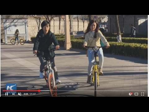 "Live: Exploring heart of Beijing on ""smart"" shared bikes!"
