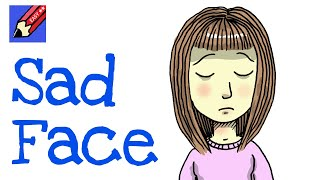How to draw a Sad Face Real Easy - for kids and beginners