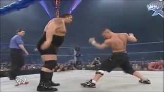 Kurt Angle Vs. Big Show Vs. John Cena - No Way Out 2004