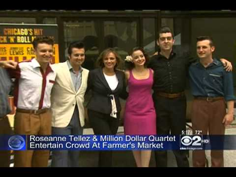 CBS 2 Chicago: Million Dollar Quartet Live at the Daley Plaza Farmers Market - 9/12/13