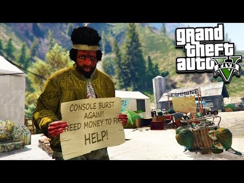 GTA 5 HOMELESS LIFE SIMULATOR! Surviving, Bank Heists & More! (GTA 5 Mods)