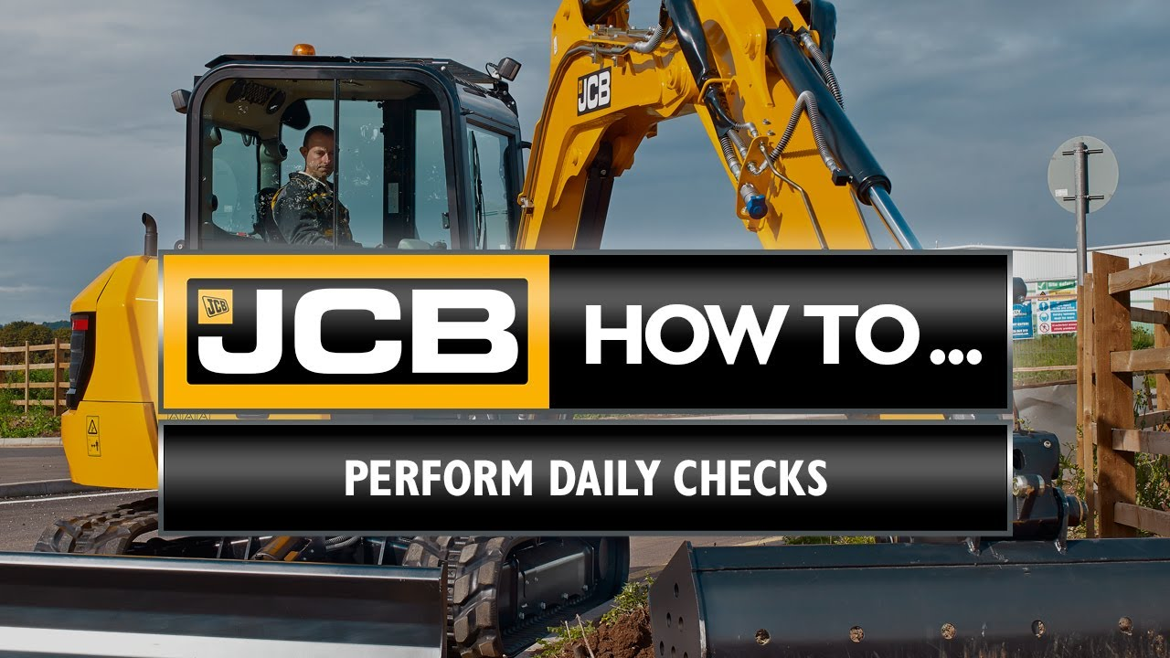 How to perform your daily checks on a JCB 4-6 tonne mini excavator