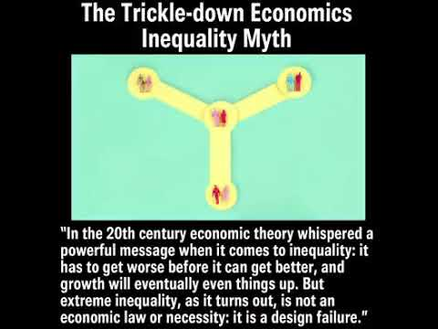 The tickle down economics: inequality myth