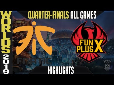 FNC vs FPX Highlights ALL GAMES | Worlds 2019 Quarter finals | Fnatic vs FunPlus Phoenix