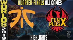 FNC vs FPX Highlights ALL GAMES | Worlds 2019 Quarter finals | Fnatic vs FunPlus Phoenix