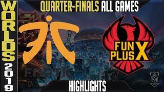 Gambar cover FNC vs FPX Highlights ALL GAMES   Worlds 2019 Quarter finals   Fnatic vs FunPlus Phoenix