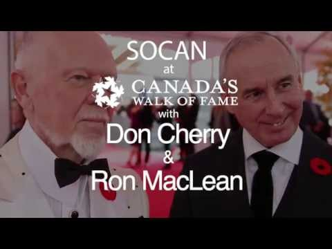 Don Cherry and Ron MacLean Talk Canadian Music @ Canada's Walk of Fame 2015