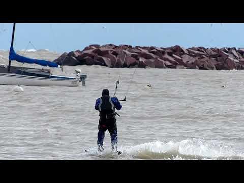 Wind kite surfer Milwaukee Bayview Wisconsin South Shore Yacht Club