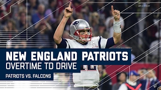 tom brady leads game winning overtime td drive patriots vs falcons super bowl li highlights