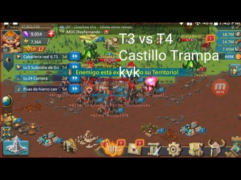 Castillo Trampa KVK l T3 vs T4 l K82 l K87 l K86 l 900M vs 47M l Lords Mobile l Shiro64 l kokechu