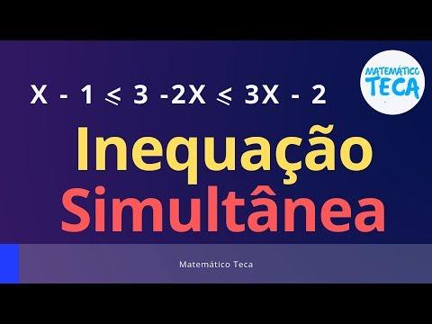 Inequação Simultânea do 1° grau