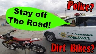 Dirt Bikers Pulled Over by Super Cool Cop!