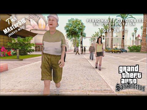 Pack De Peatones Originales De GTA San Andreas En HD PC Compatible Con SAMP ¡2019!
