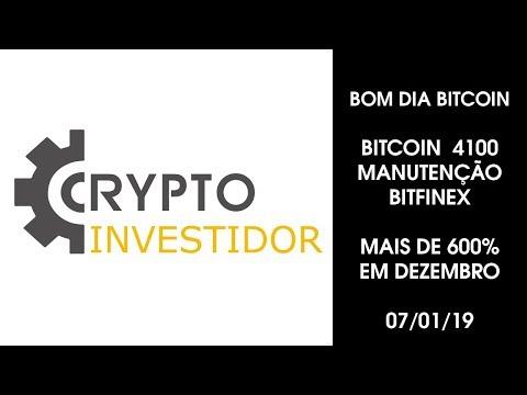 BOM DIA BITCOIN 07/01/2019 Bitcoin 4100 Plano vip mais 600%  EM DEZEMBRO, 9696% em 2018