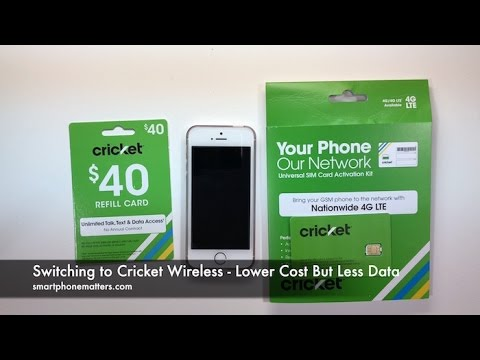 Switching to Cricket Wireless - Lower Cost But Less Data - Part 1