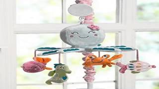 New Carter's Sea Collection Musical Mobile, Pink Blue Turquoise Product Images