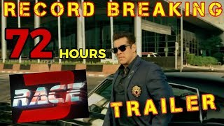 RACE 3 TRAILER | RECORD BREAKING VIEWS & LIKES AFTER 72 HOURS | GAME OVER FOR HATERS