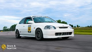 K-Swap Civic Finally Hits the Track! - Gridlife Spring Kickoff