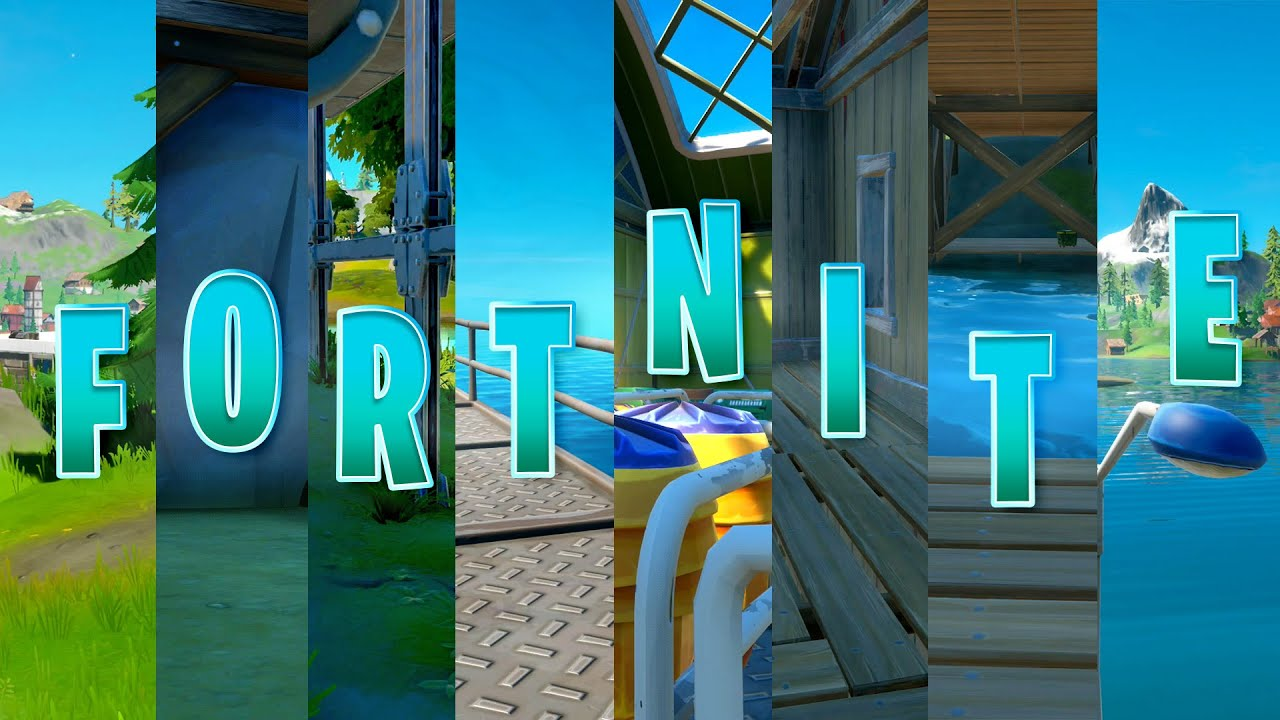 All F O R T N I T E Letters In Fortnite Chapter 2 All Hidden Letter Locations