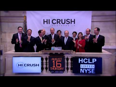 Hi-Crush Partners Celebrates IPO on the New York Stock Exchange rings the NYSE Opening Bell
