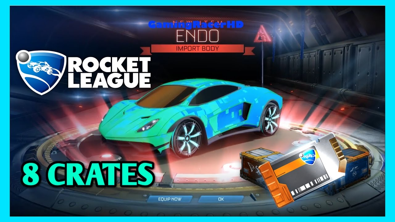 rocket league crate opening 6 new endo car septem wheels